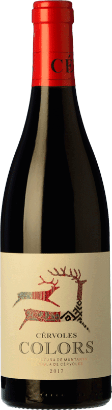 12,95 € Free Shipping | Red wine Cérvoles Colors Joven D.O. Costers del Segre Catalonia Spain Tempranillo, Merlot, Syrah, Grenache, Cabernet Sauvignon Bottle 75 cl