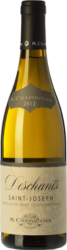 32,95 € Free Shipping | White wine Chapoutier Deschants Blanc Crianza A.O.C. Saint-Joseph Rhône France Marsanne Bottle 75 cl