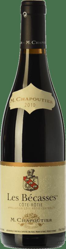 87,95 € Free Shipping | Red wine Chapoutier Les Bécasses Crianza A.O.C. Côte-Rôtie Rhône France Syrah Bottle 75 cl
