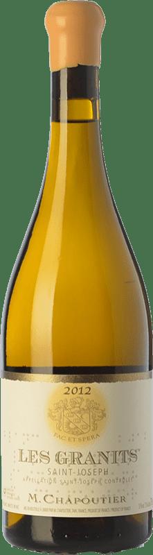 89,95 € Free Shipping | White wine Chapoutier Les Granits blanc Crianza A.O.C. Saint-Joseph Rhône France Marsanne Bottle 75 cl