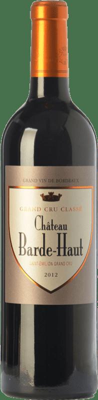 49,95 € Free Shipping | Red wine Château Barde-Haut Crianza A.O.C. Saint-Émilion Grand Cru Bordeaux France Merlot, Cabernet Franc Bottle 75 cl