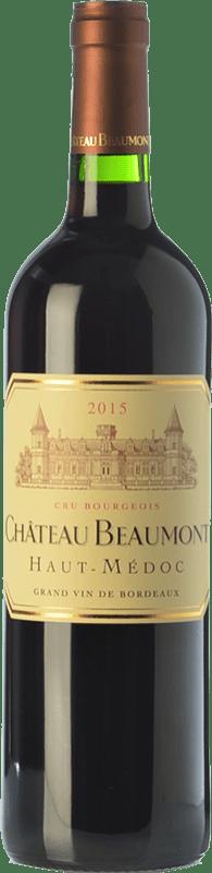 19,95 € Envío gratis | Vino tinto Château Beaumont Crianza A.O.C. Haut-Médoc Burdeos Francia Merlot, Cabernet Sauvignon Botella 75 cl