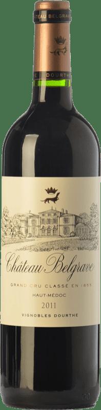 49,95 € Free Shipping | Red wine Château Belgrave Crianza A.O.C. Haut-Médoc Bordeaux France Merlot, Cabernet Sauvignon, Cabernet Franc Bottle 75 cl