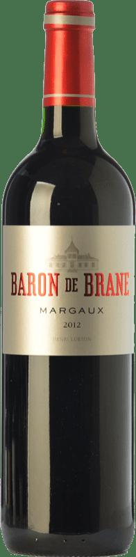 37,95 € Free Shipping | Red wine Château Brane Cantenac Baron de Brane Crianza A.O.C. Margaux Bordeaux France Merlot, Cabernet Sauvignon, Cabernet Franc Bottle 75 cl