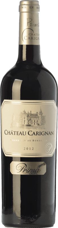 25,95 € Free Shipping | Red wine Château Carignan Prima Crianza A.O.C. Cadillac Bordeaux France Merlot Bottle 75 cl