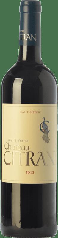23,95 € Free Shipping | Red wine Château Citran Crianza A.O.C. Haut-Médoc Bordeaux France Merlot, Cabernet Sauvignon, Cabernet Franc Bottle 75 cl
