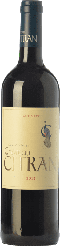 23,95 € Envío gratis | Vino tinto Château Citran Crianza A.O.C. Haut-Médoc Burdeos Francia Merlot, Cabernet Sauvignon, Cabernet Franc Botella 75 cl