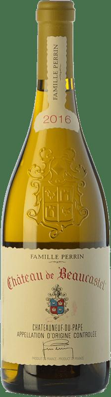 86,95 € Free Shipping | White wine Château Beaucastel Blanc Crianza A.O.C. Châteauneuf-du-Pape Rhône France Grenache White, Roussanne, Bourboulenc, Clairette Blanche, Picardan Bottle 75 cl