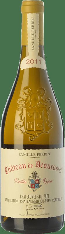 198,95 € Free Shipping | White wine Château Beaucastel Vieilles Vignes Crianza A.O.C. Châteauneuf-du-Pape Rhône France Roussanne Bottle 75 cl