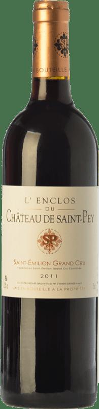 16,95 € 免费送货 | 红酒 Château de Saint-Pey L'Enclos Joven A.O.C. Saint-Émilion Grand Cru 波尔多 法国 Merlot, Cabernet Sauvignon, Cabernet Franc 瓶子 75 cl