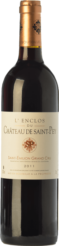 16,95 € Envío gratis   Vino tinto Château de Saint-Pey L'Enclos Joven A.O.C. Saint-Émilion Grand Cru Burdeos Francia Merlot, Cabernet Sauvignon, Cabernet Franc Botella 75 cl
