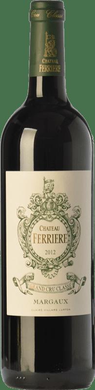59,95 € Free Shipping   Red wine Château Ferrière Crianza A.O.C. Margaux Bordeaux France Merlot, Cabernet Sauvignon, Cabernet Franc Bottle 75 cl