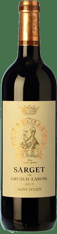 35,95 € Free Shipping | Red wine Château Gruaud Larose Sarget Crianza A.O.C. Saint-Julien Bordeaux France Merlot, Cabernet Sauvignon, Cabernet Franc, Petit Verdot Bottle 75 cl