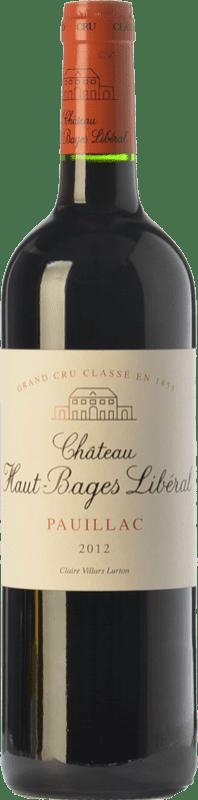 56,95 € Free Shipping | Red wine Château Haut-Bages Libéral Crianza A.O.C. Pauillac Bordeaux France Merlot, Cabernet Sauvignon Bottle 75 cl