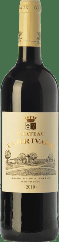 13,95 € Free Shipping | Red wine Château Larrivaux Crianza A.O.C. Haut-Médoc Bordeaux France Merlot, Cabernet Sauvignon, Cabernet Franc, Petit Verdot Bottle 75 cl