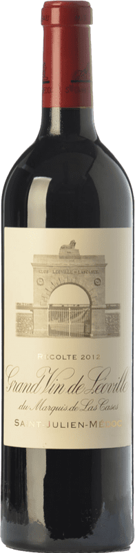 158,95 € Free Shipping | Red wine Château Léoville Las Cases Reserva A.O.C. Saint-Julien Bordeaux France Merlot, Cabernet Sauvignon, Cabernet Franc Bottle 75 cl