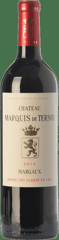 62,95 € Free Shipping | Red wine Château Marquis de Terme Crianza A.O.C. Margaux Bordeaux France Merlot, Cabernet Sauvignon, Petit Verdot Bottle 75 cl