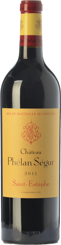 58,95 € Free Shipping | Red wine Château Phélan Ségur Crianza A.O.C. Saint-Estèphe Bordeaux France Merlot, Cabernet Sauvignon Bottle 75 cl