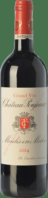 36,95 € | Red wine Château Poujeaux Crianza A.O.C. Moulis-en-Médoc Bordeaux France Merlot, Cabernet Sauvignon, Cabernet Franc, Petit Verdot Bottle 75 cl
