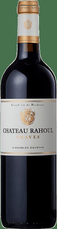 19,95 € Envío gratis | Vino tinto Château Rahoul Crianza A.O.C. Graves Burdeos Francia Merlot, Cabernet Sauvignon Botella 75 cl