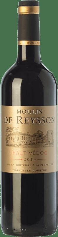 8,95 € Envoi gratuit | Vin rouge Château Reysson Moulin Crianza A.O.C. Haut-Médoc Bordeaux France Merlot Bouteille 75 cl