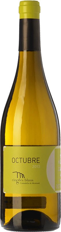 8,95 € Free Shipping | White wine Cingles Blaus Octubre Blanc D.O. Montsant Catalonia Spain Macabeo, Chardonnay Bottle 75 cl