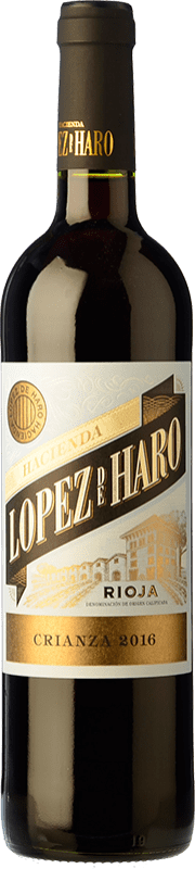 18,95 € | Red wine Classica Hacienda López de Haro Crianza D.O.Ca. Rioja The Rioja Spain Tempranillo, Grenache, Graciano Magnum Bottle 1,5 L