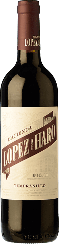 6,95 € 免费送货 | 红酒 Classica Hacienda López de Haro Joven D.O.Ca. Rioja 拉里奥哈 西班牙 Tempranillo 瓶子 75 cl