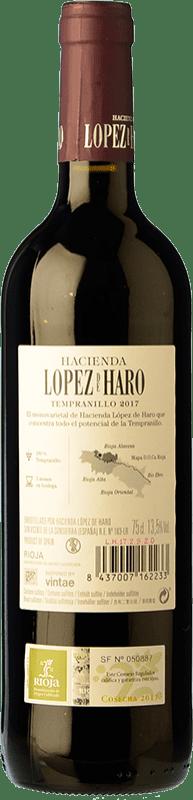 6,95 € Free Shipping | Red wine Classica Hacienda López de Haro Joven D.O.Ca. Rioja The Rioja Spain Tempranillo Bottle 75 cl