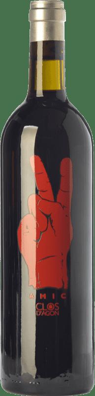 17,95 € Free Shipping | Red wine Clos d'Agón Amic Joven D.O. Catalunya Catalonia Spain Merlot, Syrah, Grenache, Cabernet Sauvignon, Monastrell Bottle 75 cl