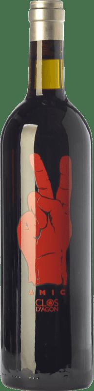16,95 € Free Shipping | Red wine Clos d'Agón Amic Joven D.O. Catalunya Catalonia Spain Merlot, Syrah, Grenache, Cabernet Sauvignon, Monastrell Magnum Bottle 1,5 L