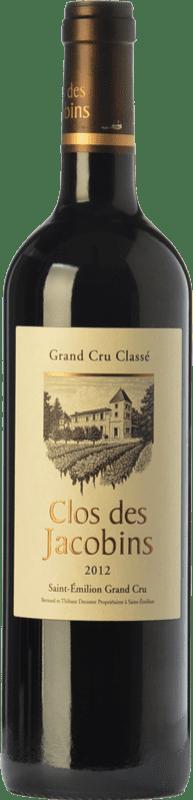 37,95 € Free Shipping | Red wine Clos des Jacobins Crianza A.O.C. Saint-Émilion Grand Cru Bordeaux France Merlot, Cabernet Sauvignon, Cabernet Franc Bottle 75 cl