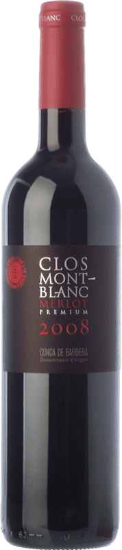 12,95 € Free Shipping | Red wine Clos Montblanc Únic Crianza D.O. Conca de Barberà Catalonia Spain Merlot Bottle 75 cl