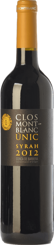 12,95 € Free Shipping | Red wine Clos Montblanc Únic Crianza D.O. Conca de Barberà Catalonia Spain Syrah Bottle 75 cl