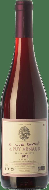 18,95 € | Red wine Clos Puy Arnaud Cuvée Bistrot Joven A.O.C. Bordeaux Bordeaux France Merlot, Cabernet Franc Bottle 75 cl