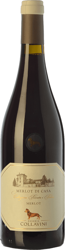 15,95 € Free Shipping | Red wine Collavini Merlot di Casa I.G.T. Friuli-Venezia Giulia Friuli-Venezia Giulia Italy Merlot Bottle 75 cl