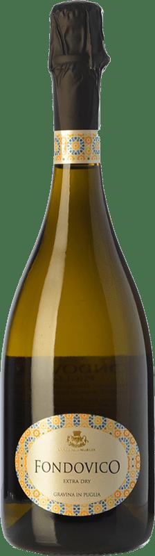 13,95 € Free Shipping | White sparkling Colli della Murgia Fondovico I.G.T. Puglia Puglia Italy Malvasía, Greco, Muscatel White, Bianco d'Alessano Bottle 75 cl
