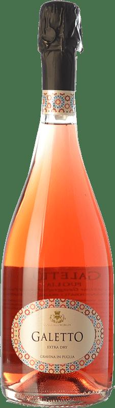 15,95 € Free Shipping | Rosé sparkling Colli della Murgia Galetto Rosé Dry I.G.T. Puglia Puglia Italy Aglianico Bottle 75 cl