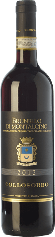 44,95 € Free Shipping | Red wine Collosorbo D.O.C.G. Brunello di Montalcino Tuscany Italy Sangiovese Bottle 75 cl