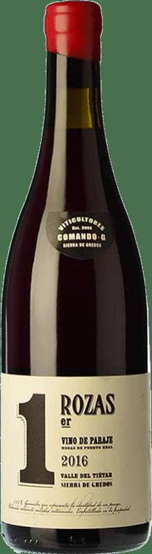 34,95 € 免费送货 | 红酒 Comando G Rozas 1er Crianza D.O. Vinos de Madrid 马德里社区 西班牙 Grenache 瓶子 75 cl