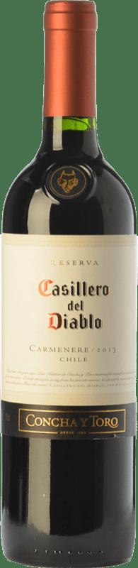 6,95 € 免费送货 | 红酒 Concha y Toro Casillero del Diablo Crianza I.G. Valle Central 中央谷地 智利 Carmenère 瓶子 75 cl