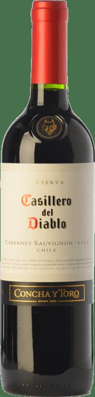8,95 € 免费送货 | 红酒 Concha y Toro Casillero del Diablo Crianza I.G. Valle Central 中央谷地 智利 Cabernet Sauvignon 瓶子 75 cl