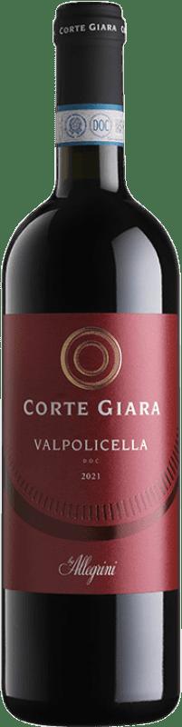 11,95 € Envoi gratuit | Vin rouge Corte Giara D.O.C. Valpolicella Vénétie Italie Corvina, Rondinella Bouteille 75 cl