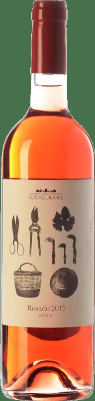9,95 € Free Shipping | Rosé wine Los Aguilares Joven D.O. Sierras de Málaga Andalusia Spain Tempranillo, Merlot, Syrah, Petit Verdot Bottle 75 cl