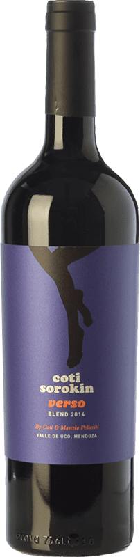 16,95 € Free Shipping | Red wine Coti Sorokin Verso Blend Crianza I.G. Valle de Uco Uco Valley Argentina Merlot, Syrah, Cabernet Sauvignon, Malbec Bottle 75 cl