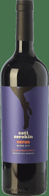 16,95 € Envío gratis | Vino tinto Coti Sorokin Verso Blend Crianza I.G. Valle de Uco Valle de Uco Argentina Merlot, Syrah, Cabernet Sauvignon, Malbec Botella 75 cl