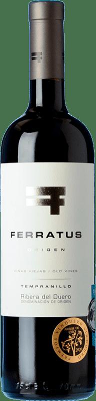 23,95 € Free Shipping | Red wine Cuevas Jiménez Ferratus Crianza D.O. Ribera del Duero Castilla y León Spain Tempranillo Bottle 75 cl