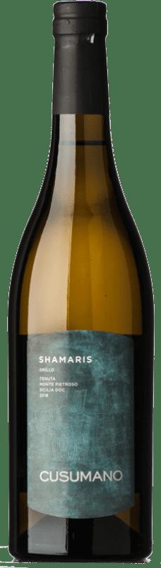 16,95 € Free Shipping | White wine Cusumano Shamaris I.G.T. Terre Siciliane Sicily Italy Grillo Bottle 75 cl