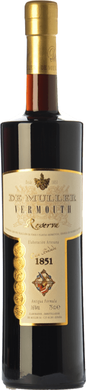 11,95 € Free Shipping | Vermouth De Muller Vermouth Reserva Catalonia Spain Bottle 75 cl