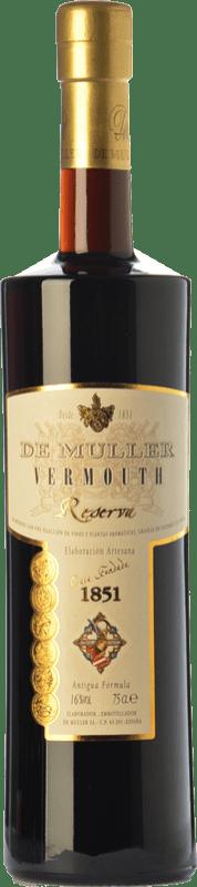 11,95 € Envío gratis | Vermut De Muller Vermouth Reserva Cataluña España Botella 75 cl